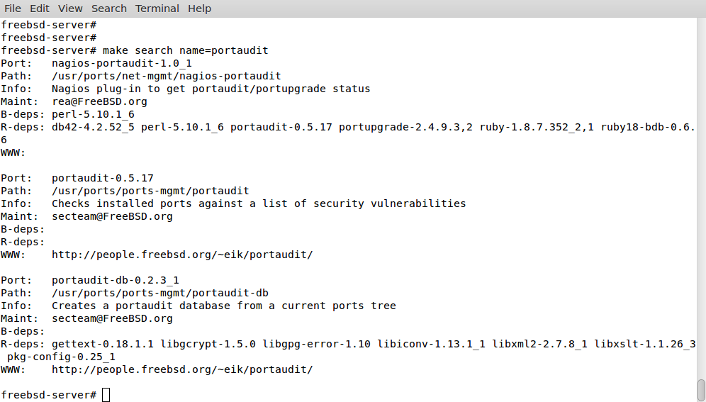 Install, configure and update the ports tree - root@opentodo#