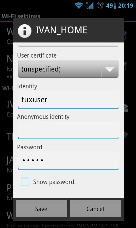 Configuring PEAP authentication with FreeRADIUS - root@opentodo#