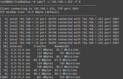 Test network performance with iperf - root@opentodo#